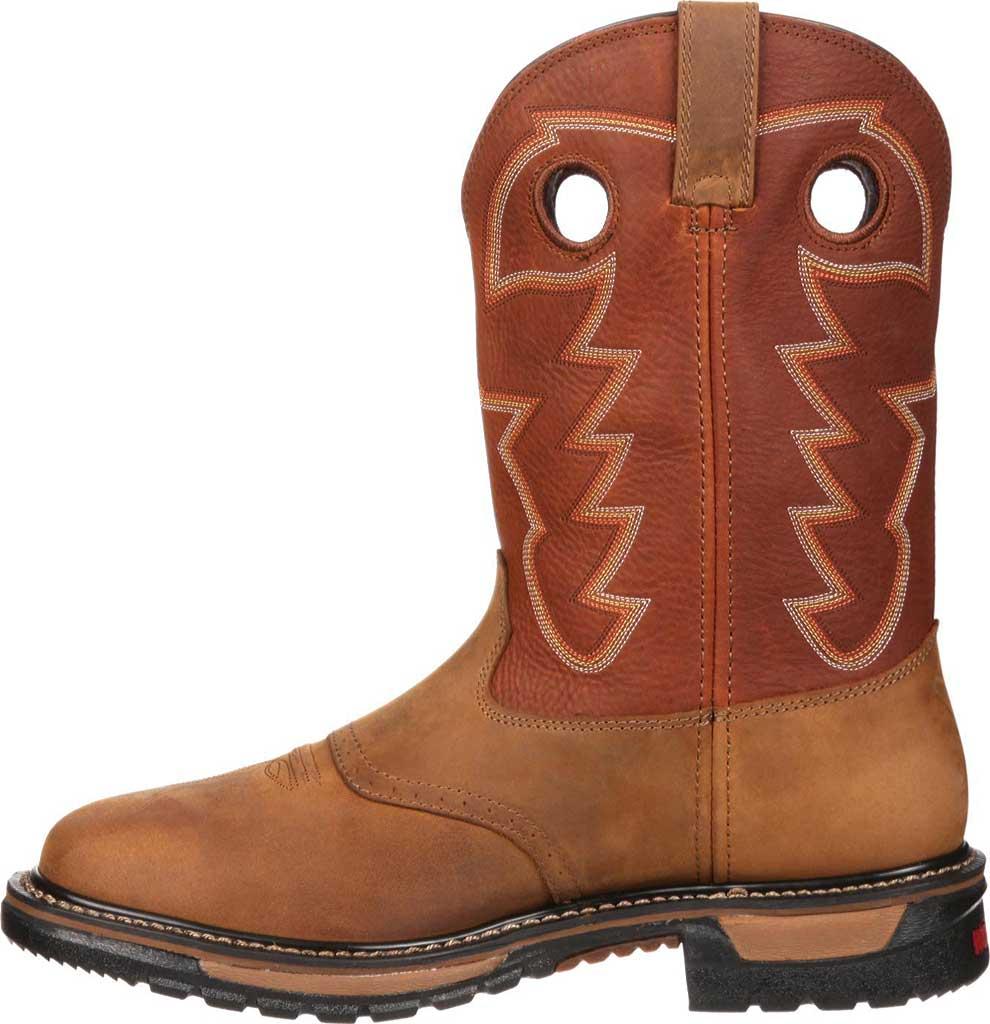 "Men's Rocky 11"" Western Saddle Original Ride Sq. Toe RKYW039, Tan/Ochre, large, image 3"