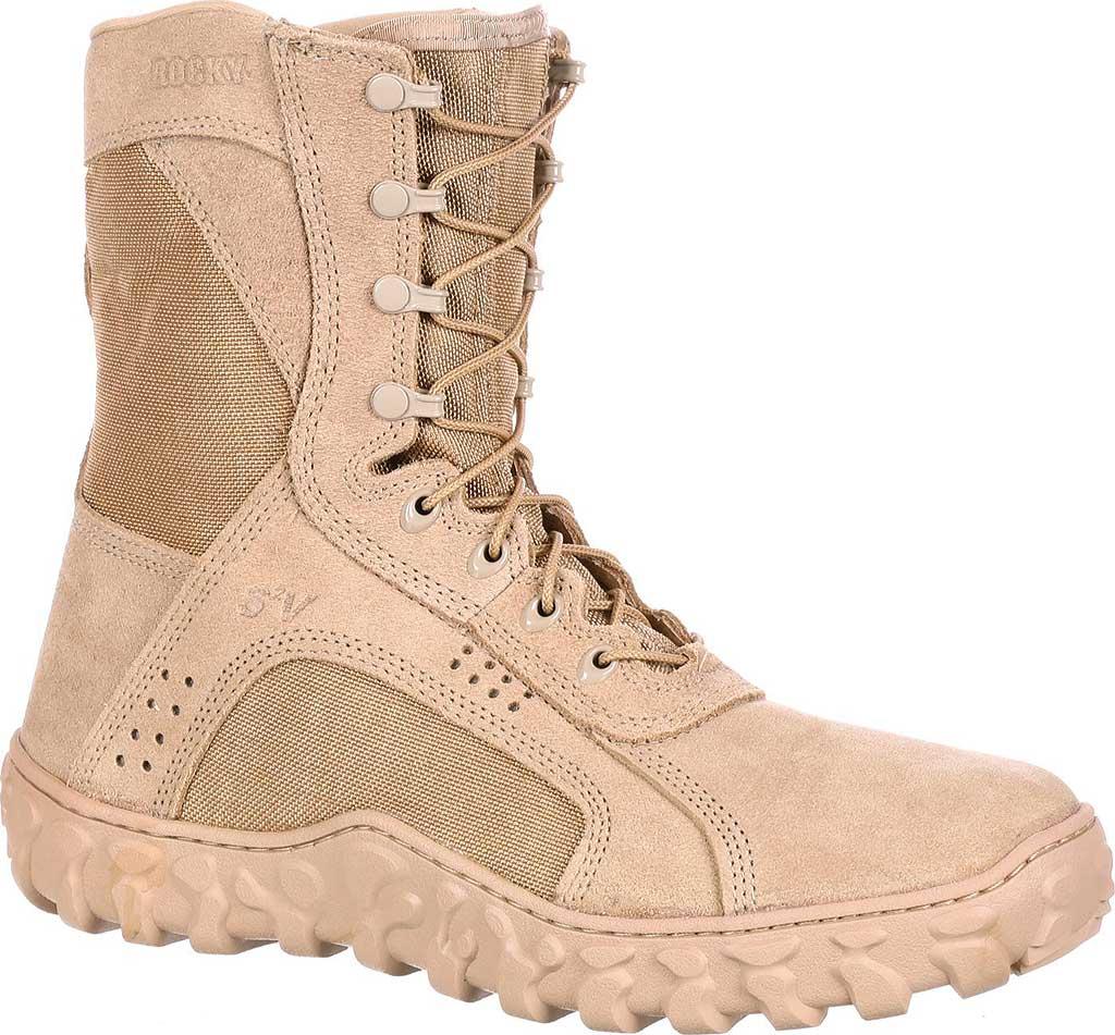"""Men's Rocky S2V 8"""" Vented Military Duty Boot 105, Desert Tan, large, image 1"""