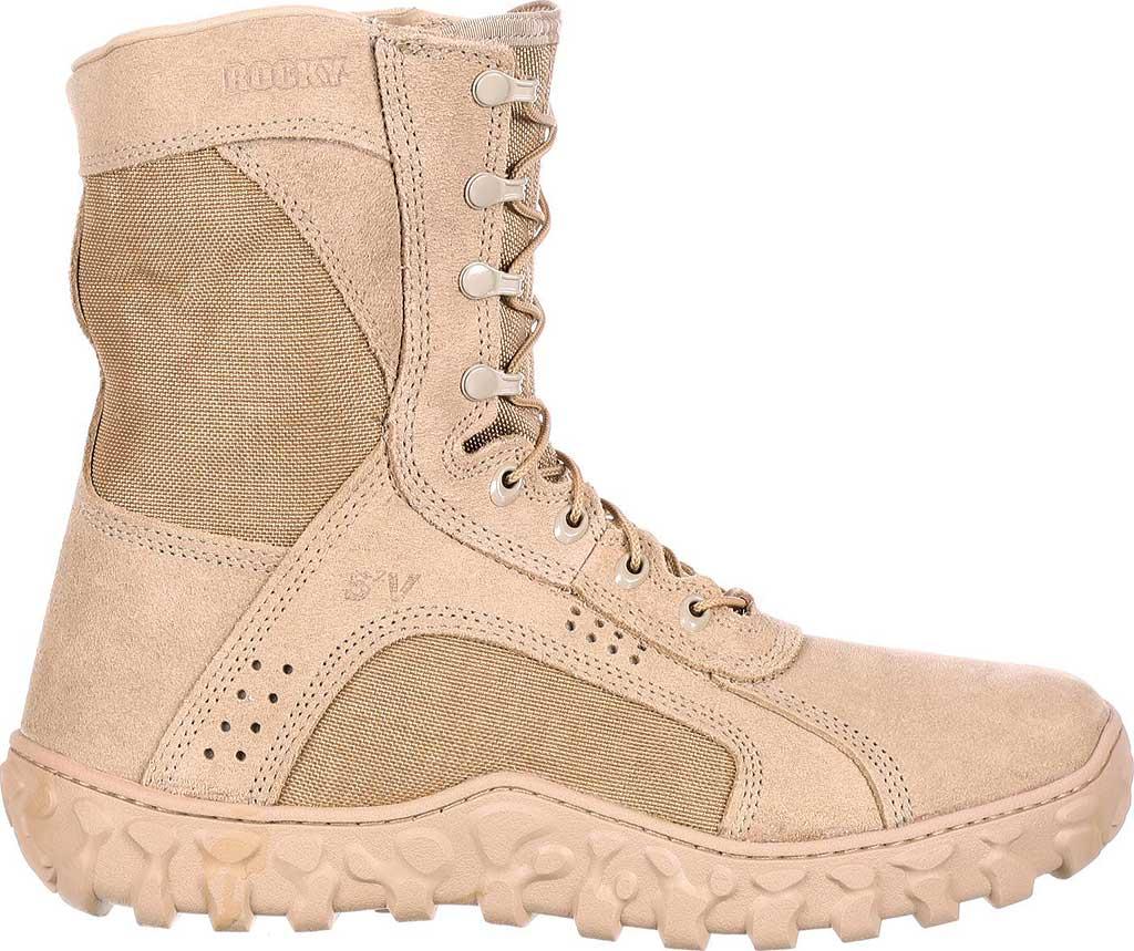 """Men's Rocky S2V 8"""" Vented Military Duty Boot 105, Desert Tan, large, image 2"""