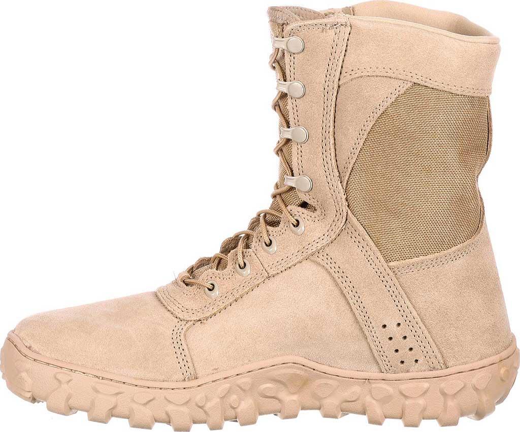 """Men's Rocky S2V 8"""" Vented Military Duty Boot 105, Desert Tan, large, image 3"""