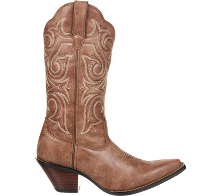 """Women's Durango Boot DCRD177 11"""" Western Scalloped Crush, Cinnamon Synthetic, large, image 2"""