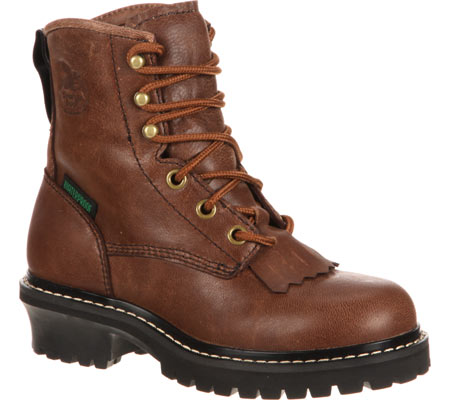 """Children's Georgia Boot GB00001 Youth 5"""" Logger, Brown Goat Skin, large, image 1"""
