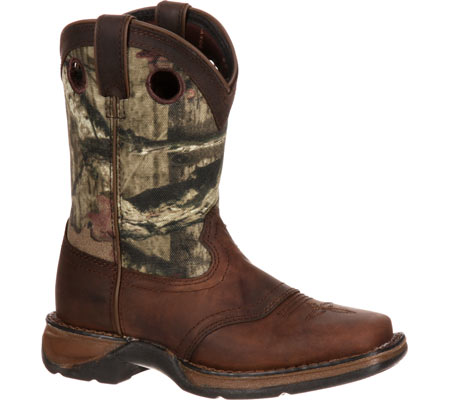 """Children's Durango Boot DBT0121 Lil' Rebel 8"""" Saddle, Distressed Brown/Camo Leather, large, image 1"""