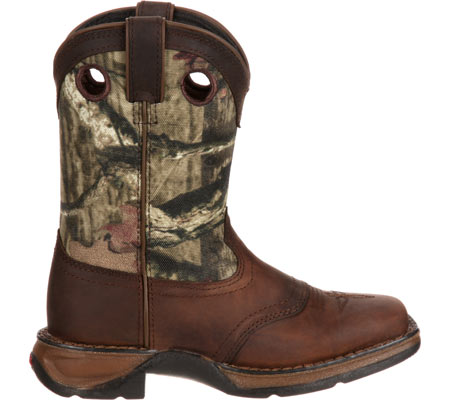 """Children's Durango Boot DBT0121 Lil' Rebel 8"""" Saddle, Distressed Brown/Camo Leather, large, image 2"""