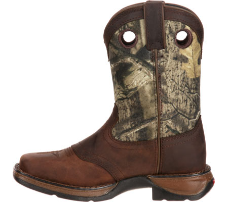 """Children's Durango Boot DBT0121 Lil' Rebel 8"""" Saddle, Distressed Brown/Camo Leather, large, image 3"""