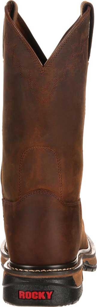 Men's Rocky Western Work Original Ride RKW0131, Dark Brown Leather, large, image 5