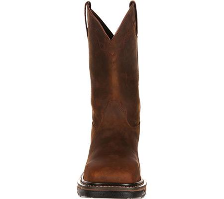 Men's Rocky Western Work Original Ride RKW0131, Dark Brown Leather, large, image 4
