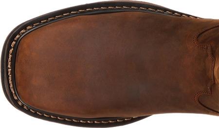 Men's Rocky Western Work Original Ride RKW0131, Dark Brown Leather, large, image 6