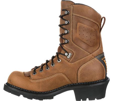 "Men's Georgia Boot GB00096 9"" CC Logger Waterproof Work Boot, Brown Full Grain Leather, large, image 3"