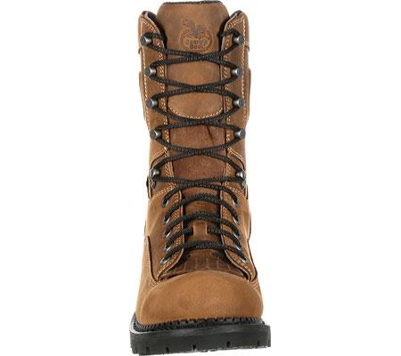 "Men's Georgia Boot GB00096 9"" CC Logger Waterproof Work Boot, Brown Full Grain Leather, large, image 4"
