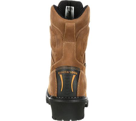 "Men's Georgia Boot GB00096 9"" CC Logger Waterproof Work Boot, Brown Full Grain Leather, large, image 5"