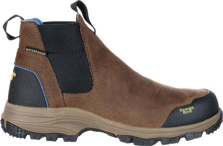 """Men's Georgia Boot GB00106 5"""" BC Chelsea Waterproof Work Boot, Dark Brown Full Grain Leather, large, image 2"""