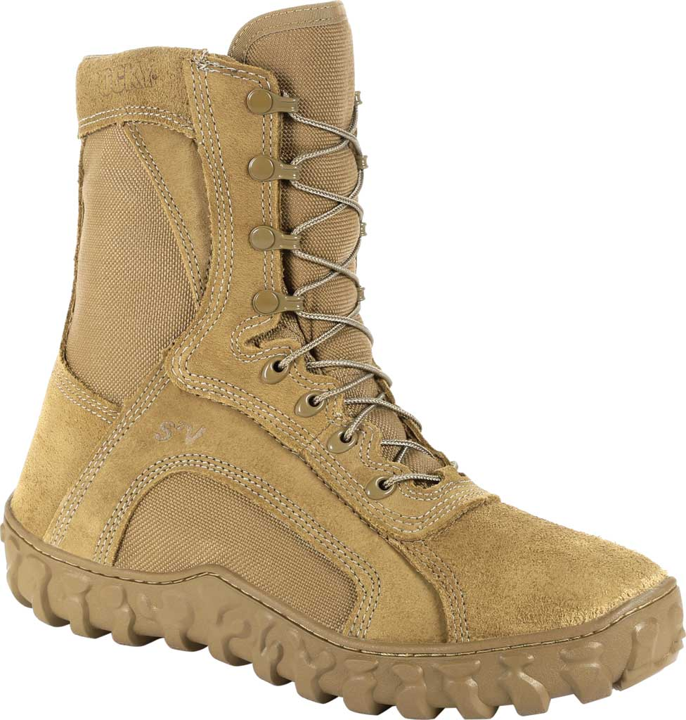 """Rocky 8"""" S2V Waterproof Insulated Military Boot, Coyote Brown Nylon/Leather, large, image 1"""
