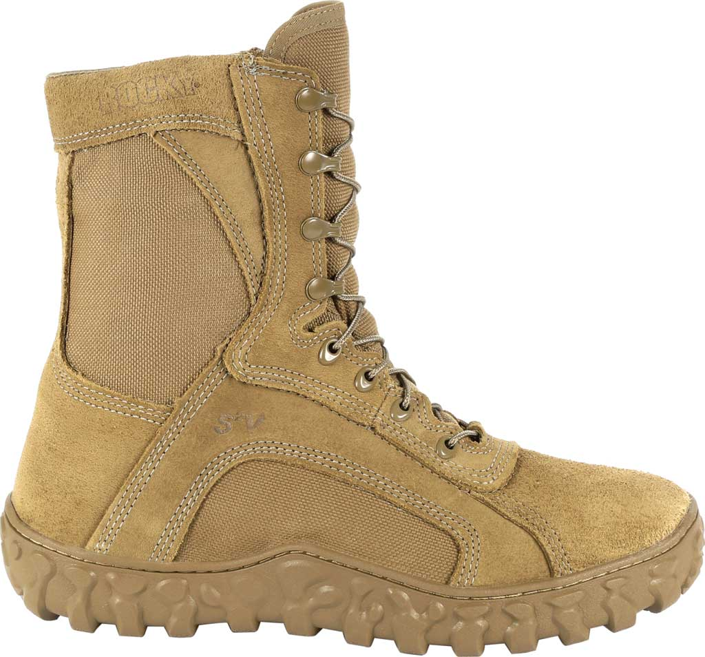 """Rocky 8"""" S2V Waterproof Insulated Military Boot, Coyote Brown Nylon/Leather, large, image 2"""