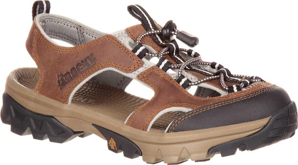 Women's Rocky Endeavor Point Hiking Sandal, Brown Full Grain Leather, large, image 1