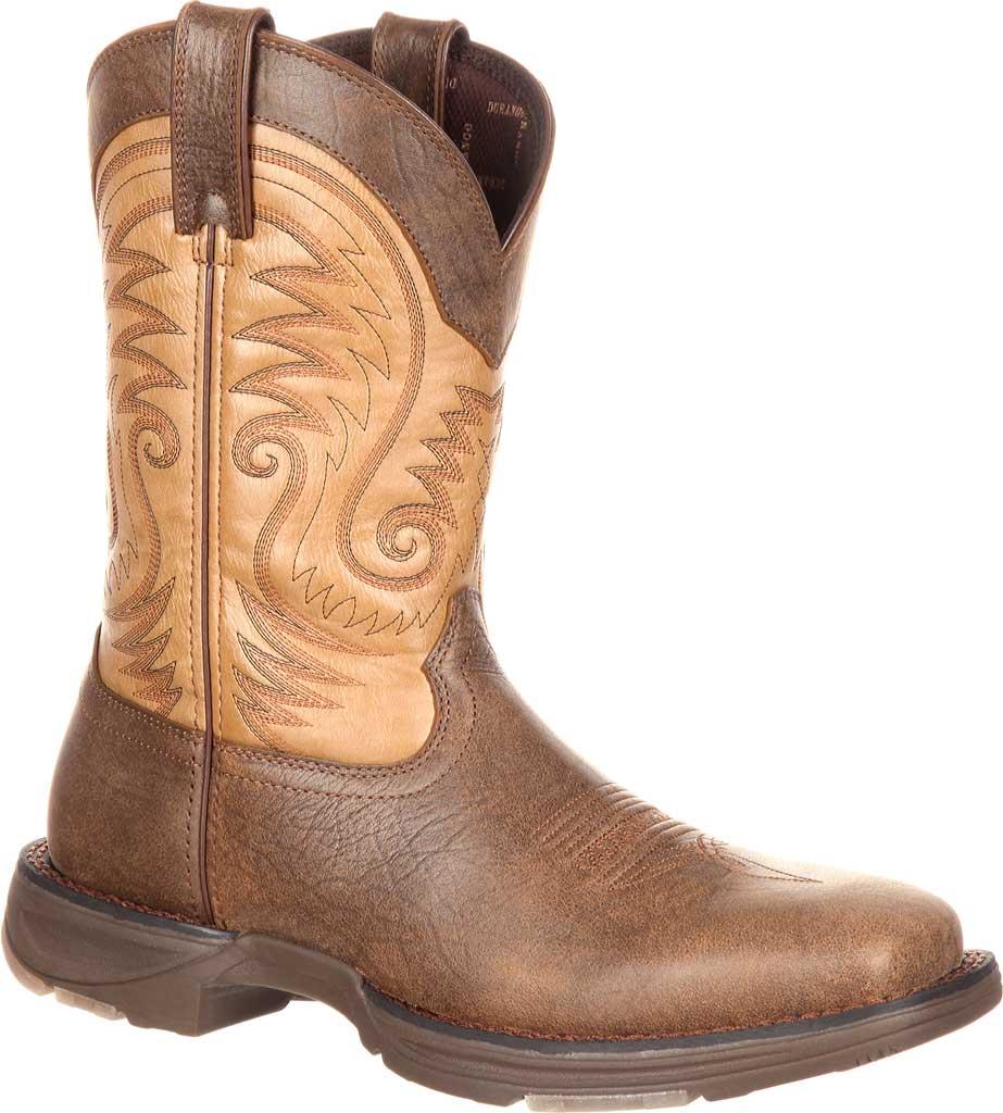 "Men's Durango Boot DDB0109 11"" UltraLite Western Boot, Vintage Brown Full Grain Leather, large, image 1"