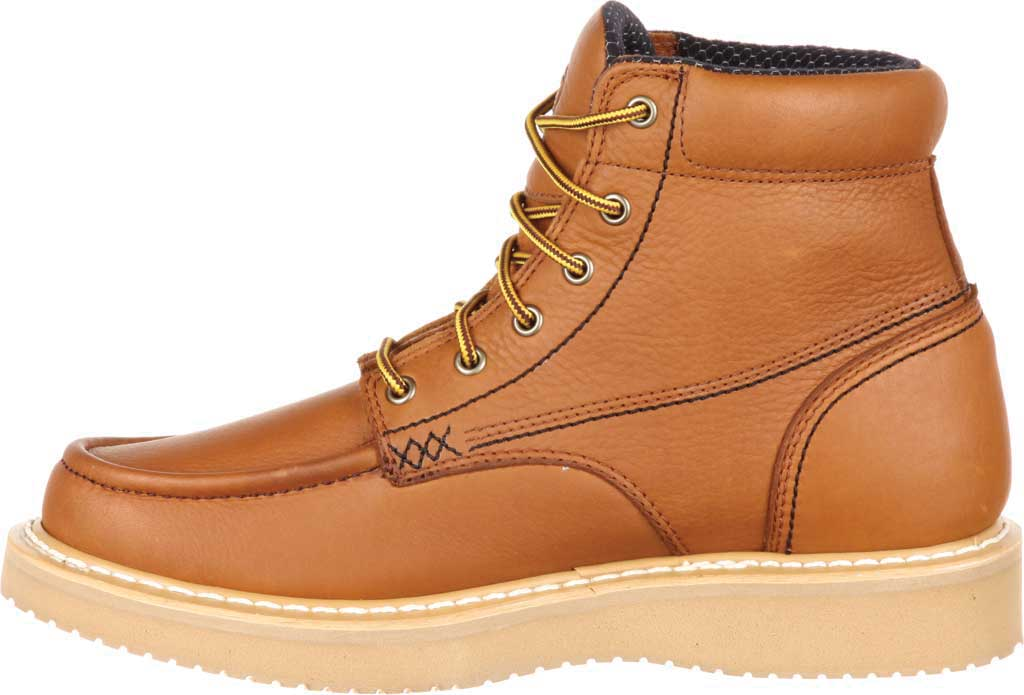 "Men's Georgia Boot GB00177 6"" Moc-Toe Wedge Work Boot, Barracuda Gold Full Grain Leather, large, image 3"