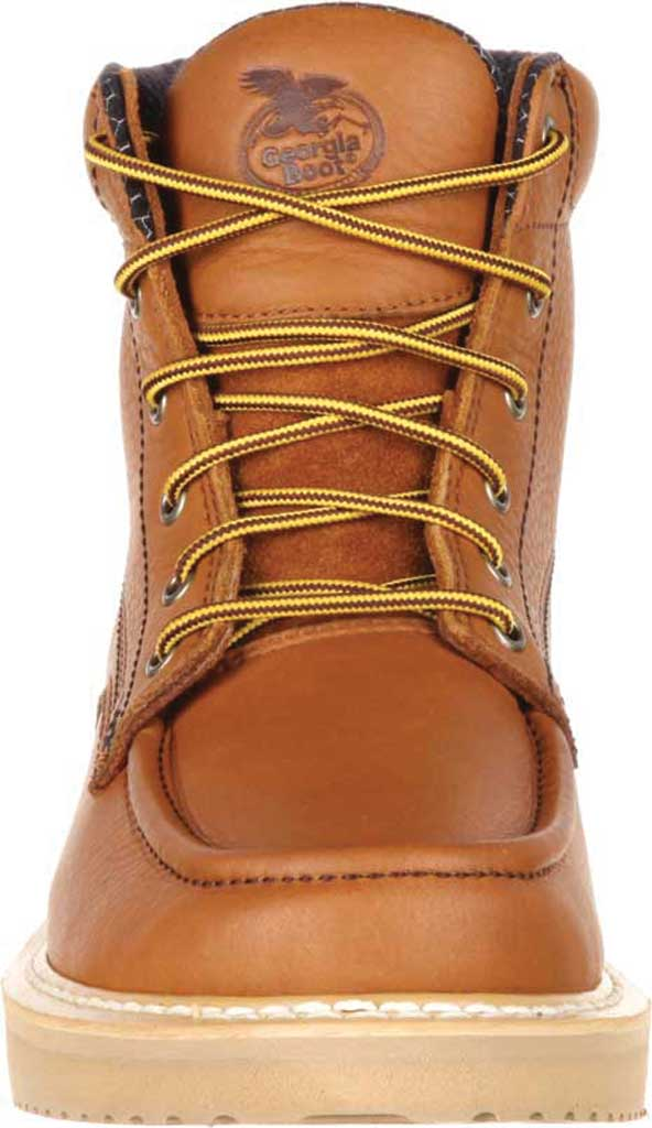 "Men's Georgia Boot GB00177 6"" Moc-Toe Wedge Work Boot, Barracuda Gold Full Grain Leather, large, image 4"