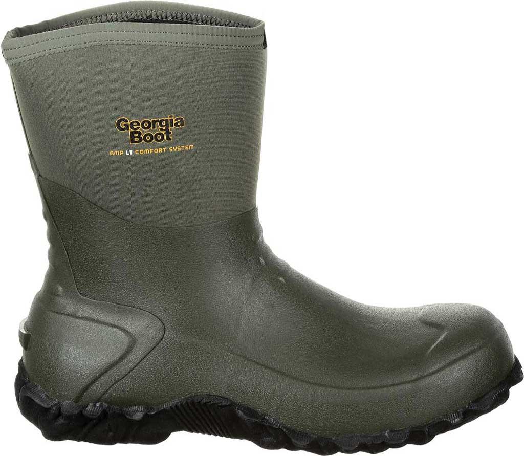 Men's Georgia Boot GB00231 Waterproof Mid Calf Rubber Boot, Green Rubber, large, image 2
