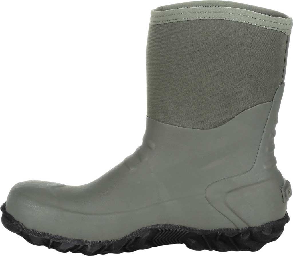 Men's Georgia Boot GB00231 Waterproof Mid Calf Rubber Boot, Green Rubber, large, image 3