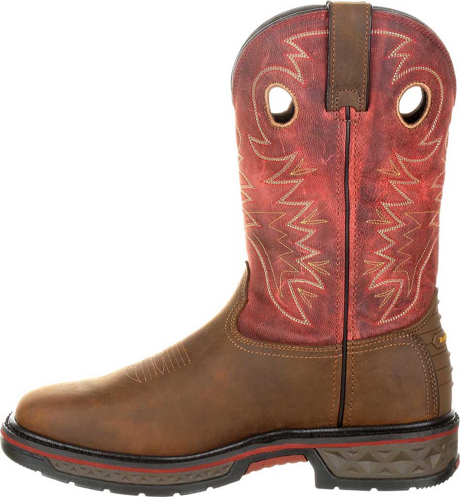 Men's Georgia Boot GB00221 Carbo-Tec Waterproof Pull-on Work Boot, Brown/Red Full Grain Leather, large, image 3