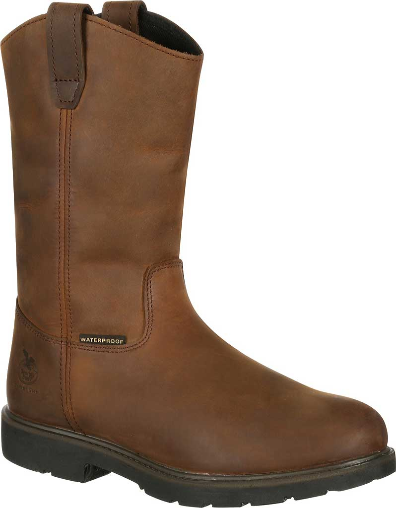 Men's Georgia Boot GB00085 Suspension System WP Wellington Boot, Brown Leather, large, image 1