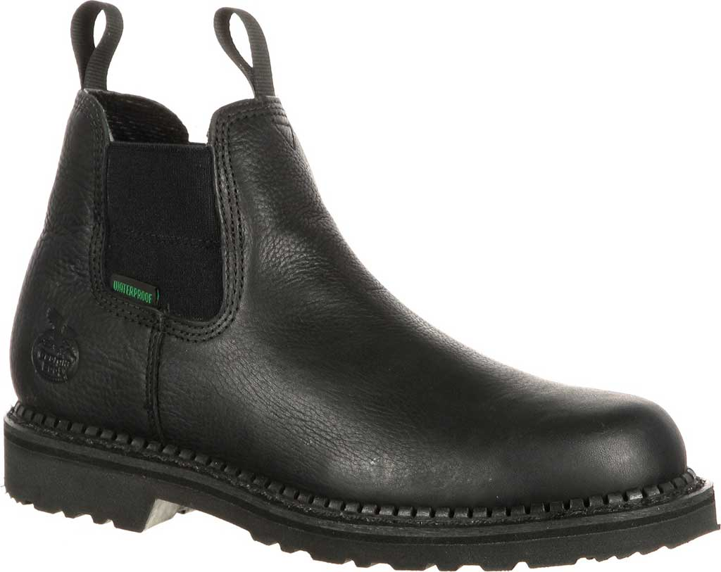 Men's Georgia Boot GB00084 Georgia Giant Waterproof High Romeo Boot, Black Full Grain Leather, large, image 1