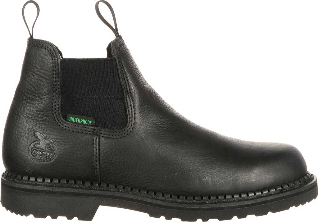 Men's Georgia Boot GB00084 Georgia Giant Waterproof High Romeo Boot, Black Full Grain Leather, large, image 2