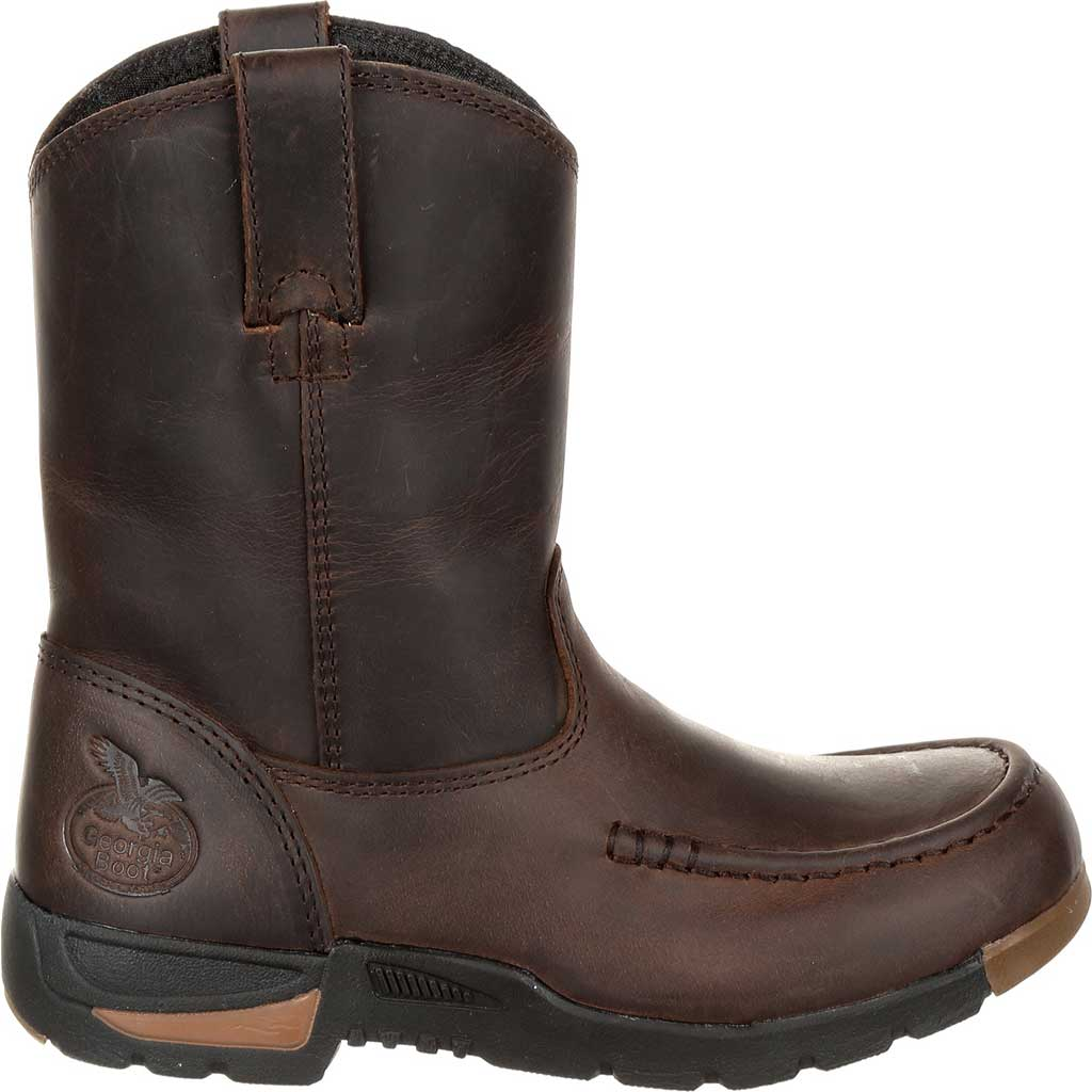 Children's Georgia Boot GB00232C Athen's Pull-On Boot, Brown Full Grain Leather, large, image 2