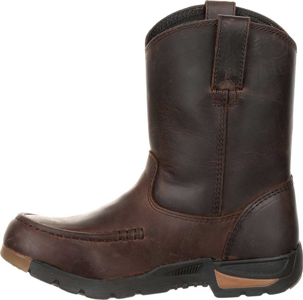 Children's Georgia Boot GB00232C Athen's Pull-On Boot, Brown Full Grain Leather, large, image 3