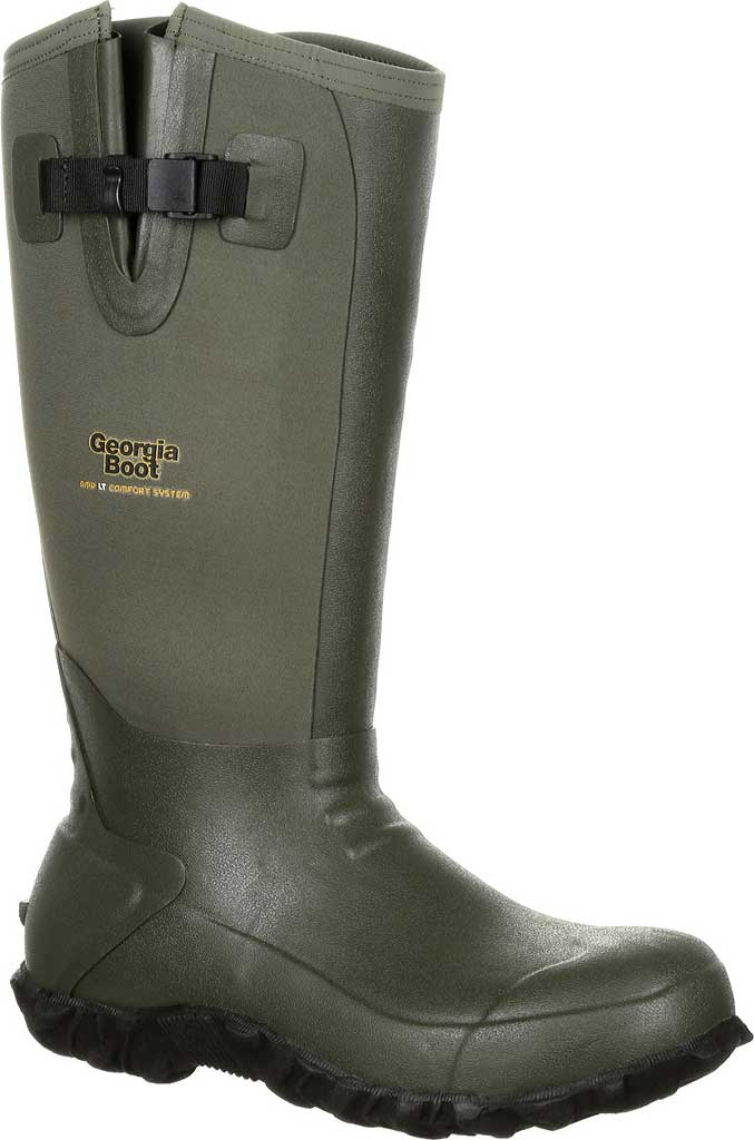 Men's Georgia Boot GB00230 Waterproof Rubber Knee High Boot, Green Rubber, large, image 1