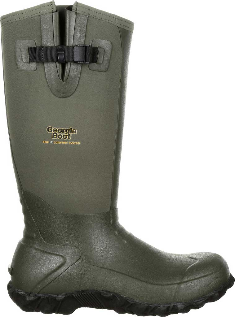 Men's Georgia Boot GB00230 Waterproof Rubber Knee High Boot, Green Rubber, large, image 2
