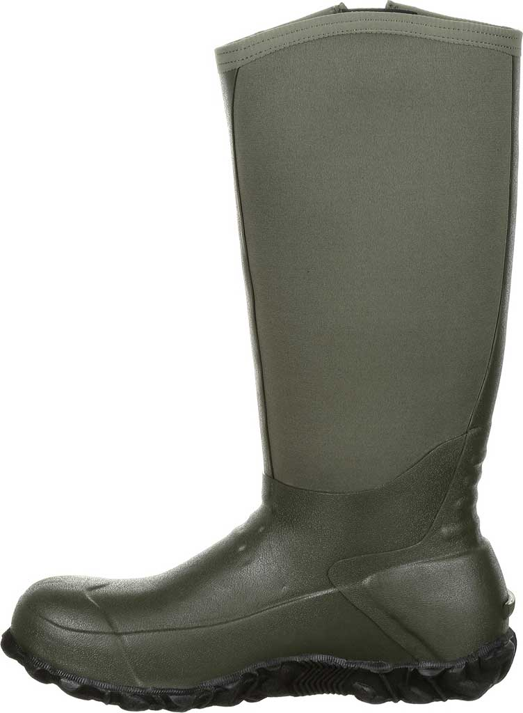 Men's Georgia Boot GB00230 Waterproof Rubber Knee High Boot, Green Rubber, large, image 3