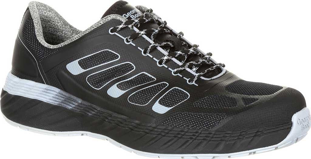 Men's Georgia Boot GB00218 ReFLX Alloy Toe Work Athletic Shoe, Black Grey Leather/Synthetic, large, image 1