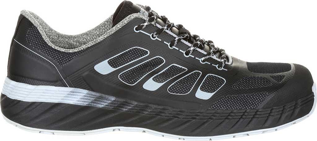 Men's Georgia Boot GB00218 ReFLX Alloy Toe Work Athletic Shoe, Black Grey Leather/Synthetic, large, image 2