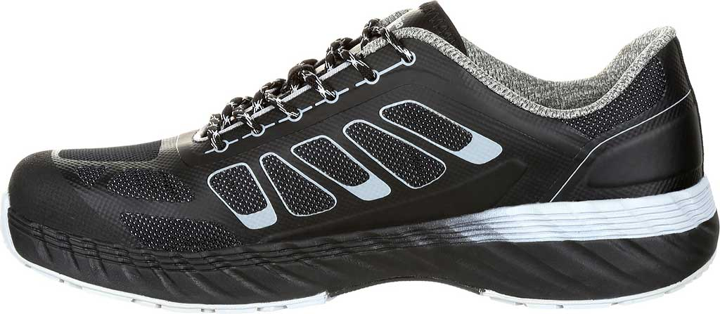 Men's Georgia Boot GB00218 ReFLX Alloy Toe Work Athletic Shoe, Black Grey Leather/Synthetic, large, image 3