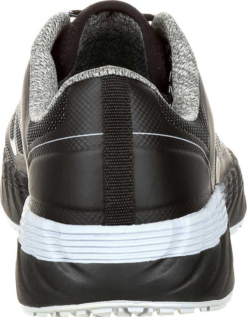 Men's Georgia Boot GB00218 ReFLX Alloy Toe Work Athletic Shoe, Black Grey Leather/Synthetic, large, image 4