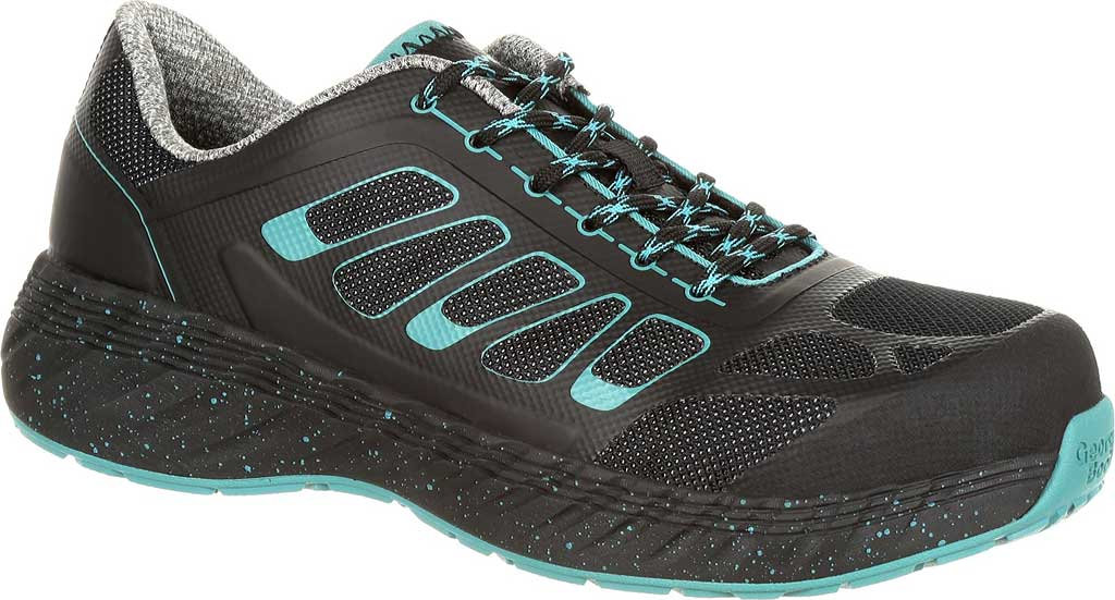 Women's Georgia Boot GB00233 ReFLX Alloy Toe Work Athletic Shoe, Black Leather/Synthetic, large, image 1