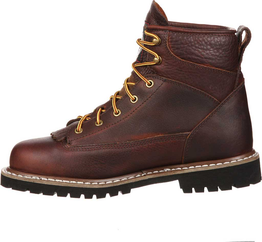 Men's Georgia Boot GBOT052 Waterproof Lace-To-Toe Work Boot, Chocolate Full Grain Leather, large, image 3