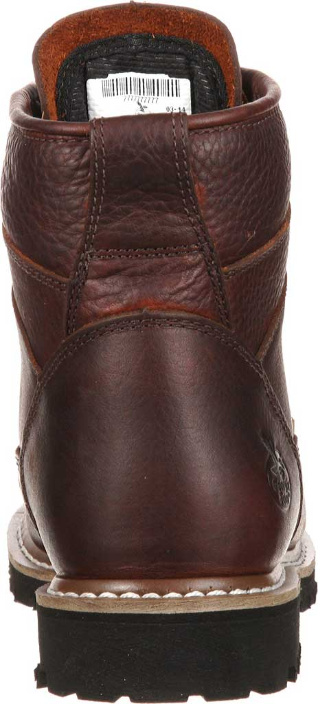 Men's Georgia Boot GBOT053 Lace-To-Toe Steel Toe Waterproof Work Boot, Chocolate Full Grain Leather, large, image 4