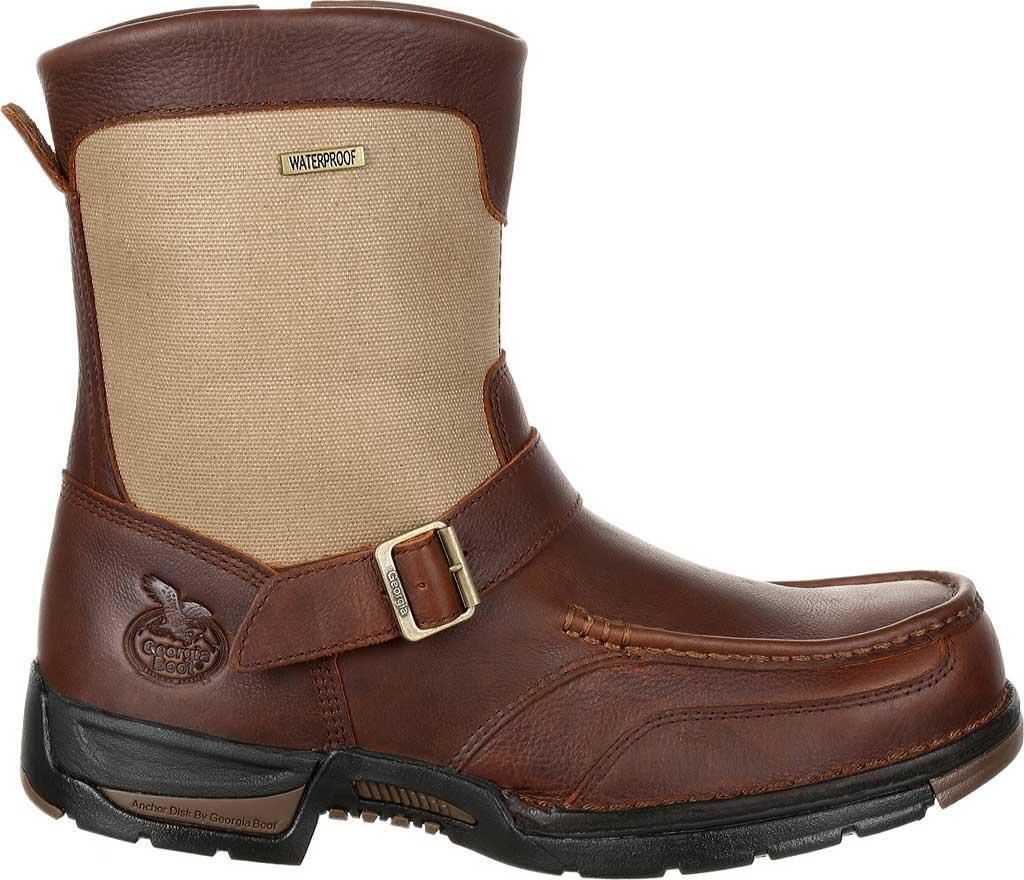 Men's Georgia Boot GB00245 Athens Waterproof Side-Zip Boot, Brown Full Grain Leather, large, image 2