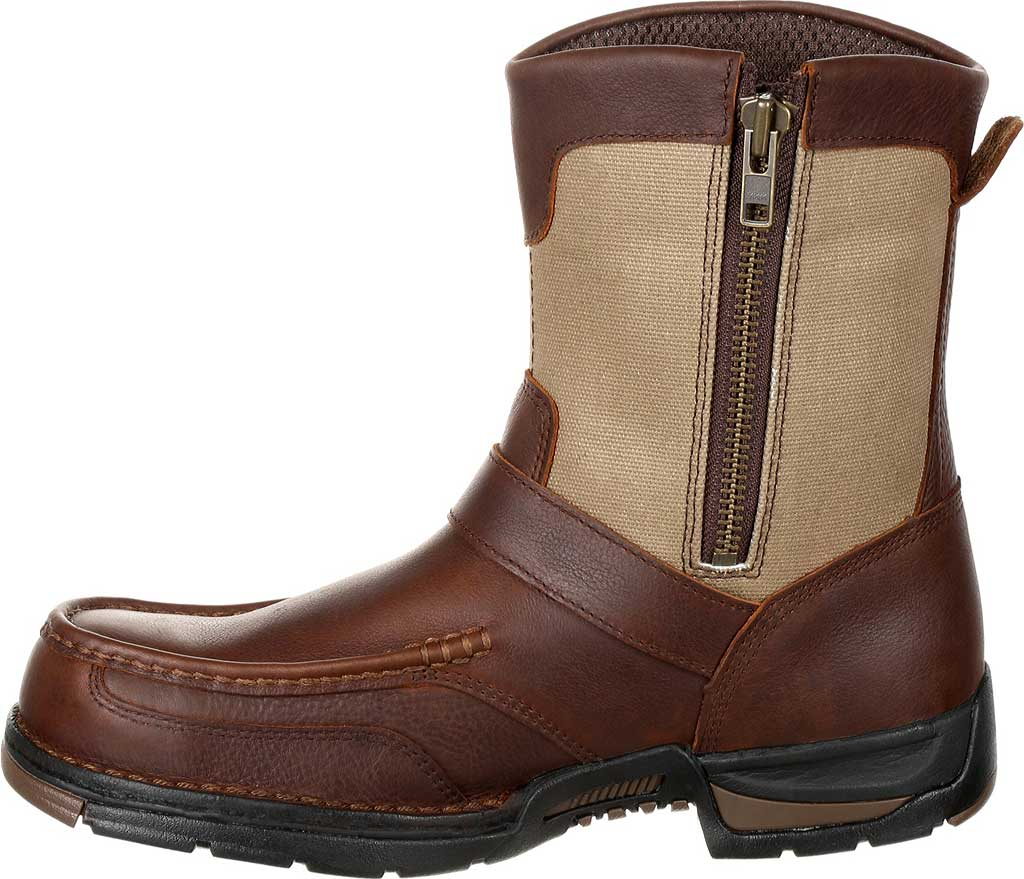 Men's Georgia Boot GB00245 Athens Waterproof Side-Zip Boot, Brown Full Grain Leather, large, image 3