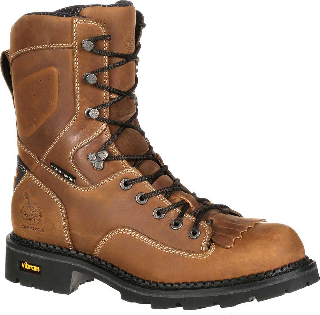 Men's Georgia Boot GB00123 Comfort Core Comp Toe WP Logger Work Boot, Crazy Horse Full Grain Leather, large, image 1