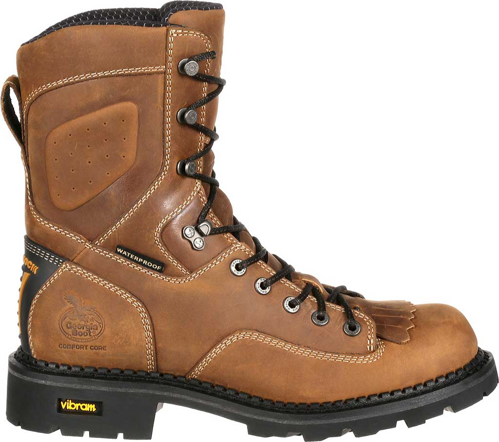 Men's Georgia Boot GB00123 Comfort Core Comp Toe WP Logger Work Boot, Crazy Horse Full Grain Leather, large, image 2