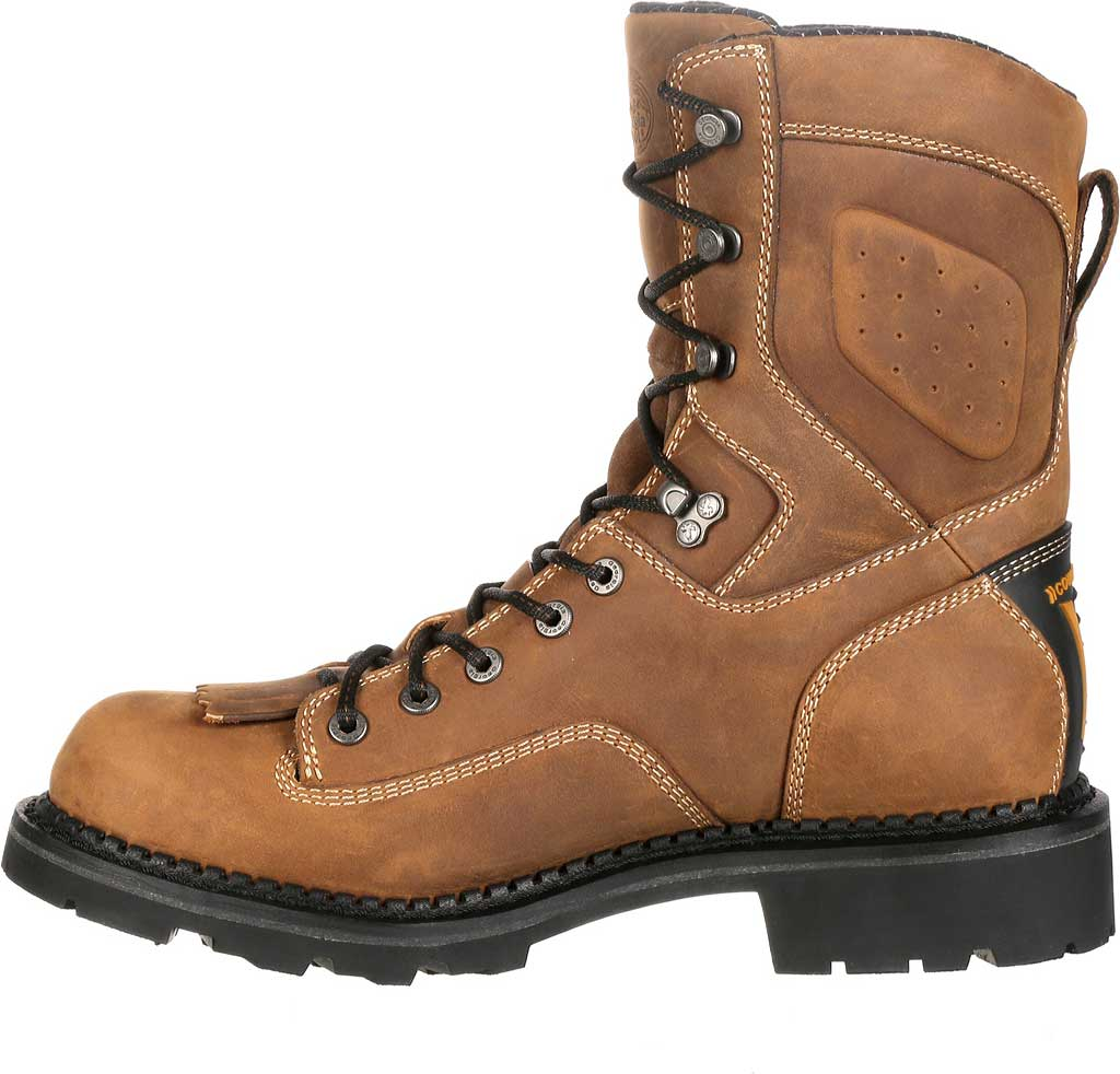 Men's Georgia Boot GB00123 Comfort Core Comp Toe WP Logger Work Boot, Crazy Horse Full Grain Leather, large, image 3