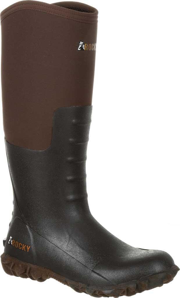 Women's Rocky Core Chore Rubber Outdoor Boot RKS0377, Dark Brown Rubber/Neoprene, large, image 1