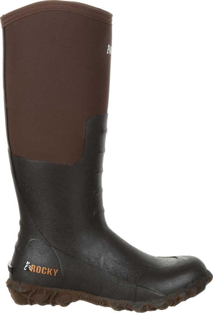Women's Rocky Core Chore Rubber Outdoor Boot RKS0377, Dark Brown Rubber/Neoprene, large, image 2
