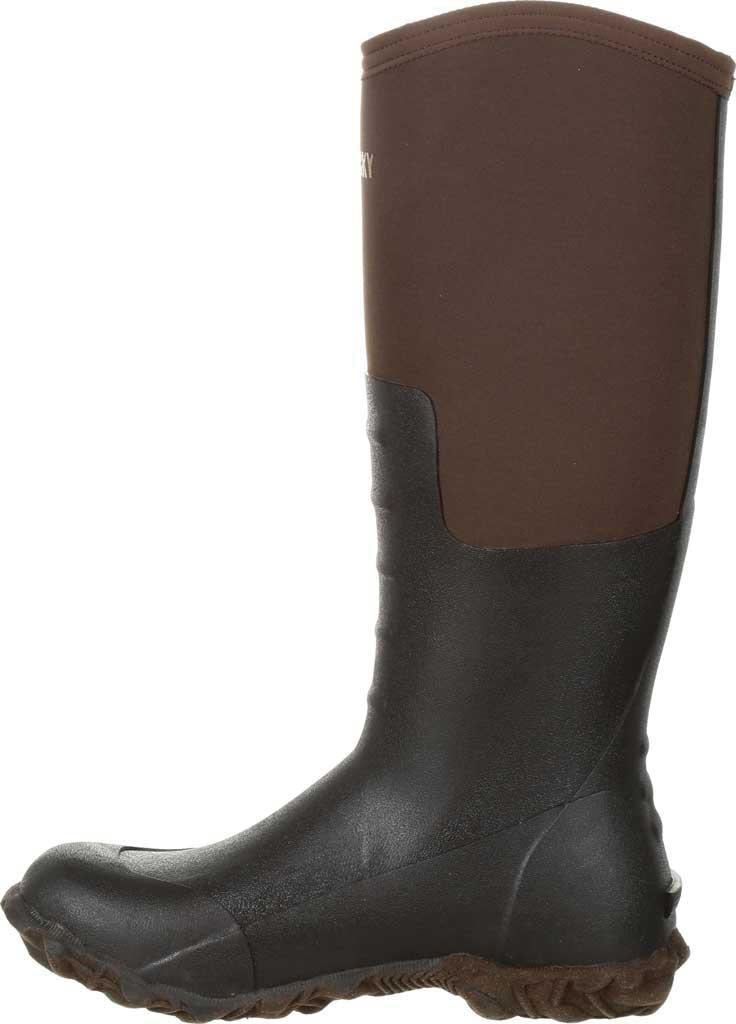Women's Rocky Core Chore Rubber Outdoor Boot RKS0377, Dark Brown Rubber/Neoprene, large, image 3