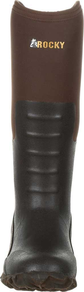Women's Rocky Core Chore Rubber Outdoor Boot RKS0377, Dark Brown Rubber/Neoprene, large, image 4
