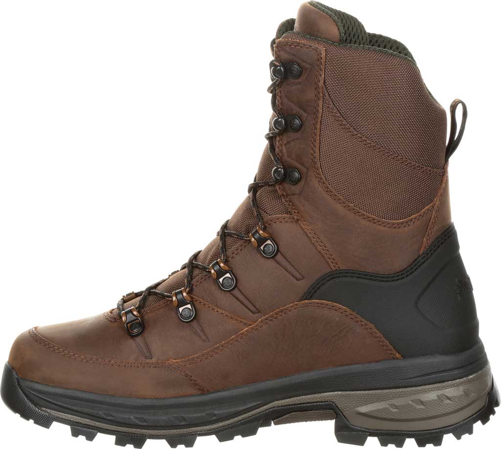 Men's Rocky Grizzly WP 200G Insulated Outdoor Boot RKS0365, Dark Brown Full Grain Leather/Nylon, large, image 3
